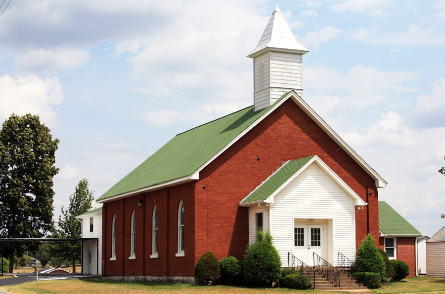 brick country church